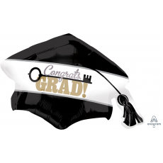 Graduation SuperShape Key to Success Cap Shaped Balloon