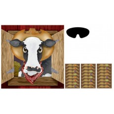 Cowboy & Western Pin the Moustache on the Cowboy Party Games Pack of 4