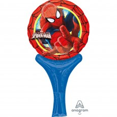 Round Ultimate Spider-Man CI: Inflate-A-Fun Foil Balloon 15cm x 30cm