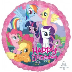My Little Pony Party Decorations - Foil Balloon Happy Birthday