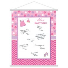 Shower with Love Girl Party Supplies - Sign In Sheet