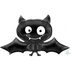 Halloween Black SuperShape XL Bat Shaped Balloon