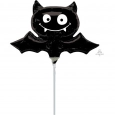 Halloween Black Mini Bat Shaped Balloon