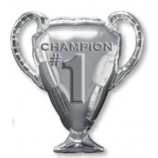 Silver SuperShape XL Champion #1 Trophy Shaped Balloon