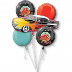Rock n Roll 50's Bouquet Foil Balloons