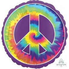 Feeling Groovy & 60's Jumbo XL Peace Shaped Balloon