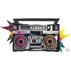 Totally 80's SuperShape XL Boombox Shaped Balloon