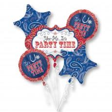 Bandana & Blue Jeans Bouquet Foil Balloons Pack of 5