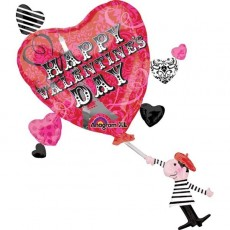 Valentine's Day SuperShape French Inspired Shaped Balloon