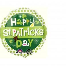 St Patrick's day Standard HX Dots Foil Balloon