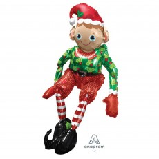 Christmas Sitting Elf Shaped Balloon