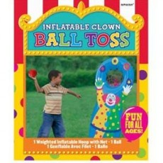 Happy Birthday Inflatable Ball Toss Party Game