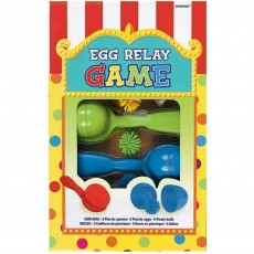 Multi Coloured Egg Relay Party Games Pack of 5