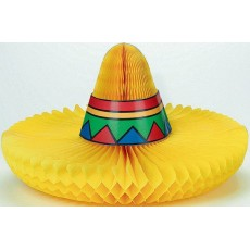 Mexican Fiesta Sombrero Honeycomb Centrepiece