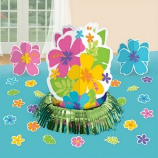 Hawaiian Luau Hibiscus Flowers Table Decorating Kit