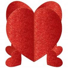 Love Red Mini Glitter 3D Hearts Centrepieces