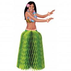 Hawaiian Luau Mini Tiki Hula Girls Honeycomb Centrepieces