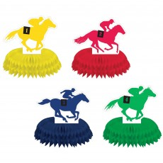 Horse Racing Derby Day Mini Honeycomb Centrepieces