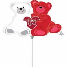 Valentine's Day Love Bears Foil Balloon