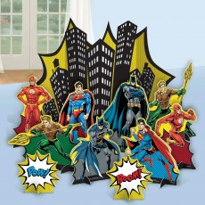 Justice League Party Decorations - Decorating Kit Heroes Unite Table