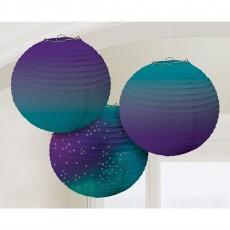 Sparkling Sapphire Party Decorations - Lanterns Paper