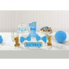 Boy's 1st Birthday Party Decorations - Decorating Kit Table