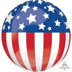 Orbz XL USA Patriotic Shaped Balloon