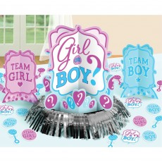 Gender Reveal Table Decorating Kit