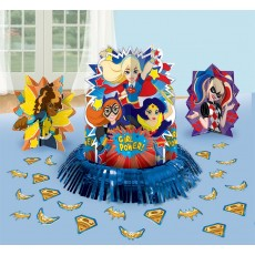 Super Hero Girls Party Decorations - Decorating Kit Table