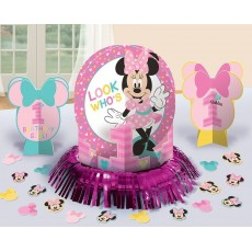 Minnie Mouse 1st Birthday Fun To Be One Table Decorating Kit
