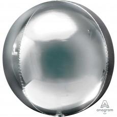 Orbz XL Silver Un-Packaged Shaped Balloon 38cm x 40cm