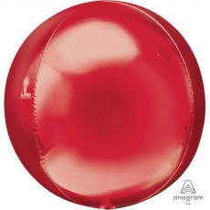 Orbz XL Red Packaged Shaped Balloon 38cm x 40cm
