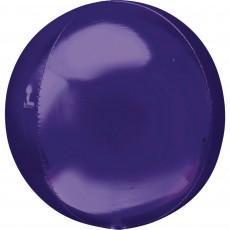 Orbz XL Purple Shaped Balloon 38cm x 40cm
