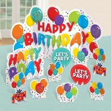 Happy Birthday Celebration Table Centrepieces