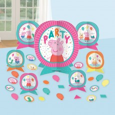 Peppa Pig Party Decorations - Decorating Kits Confetti Party Table