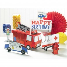 First Responders Party Decorations - Decorating Kits Table