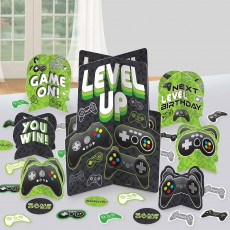 Level Up Gaming Party Decorations - Centrepiece Table