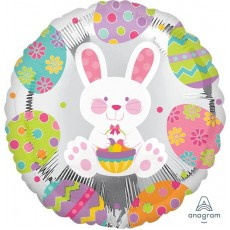Easter Enchantment Bunny Foil Balloon
