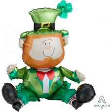 St Patrick's day CI: Multi-Balloon Sitting Leprechaun Foil Balloon