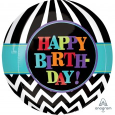 Chevron Design Dancing Lines Shaped Balloon