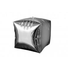 Cubez Silver UltraShape Shaped Balloon 38cm x 38cm
