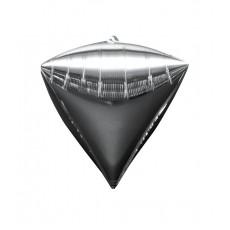Diamondz Silver UltraShape Shaped Balloon 38cm x 43cm