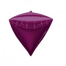 Diamondz Bright Pink UltraShape Shaped Balloon 38cm x 43cm