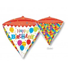 Happy Birthday UltraShape Geometric Shaped Balloon