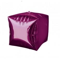 Cubez Bright Pink UltraShape Shaped Balloon 38cm x 38cm