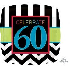 60th Birthday Celebrate Foil Balloon