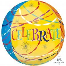 Happy Birthday Streamers Shaped Balloon