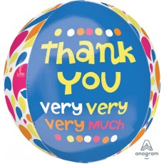 Thank You Party Decorations - Shaped Balloon Orbz XL
