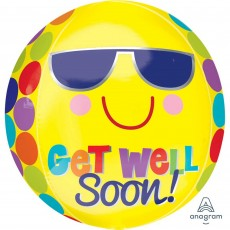 Get Well Bright Sunny Shaped Balloon