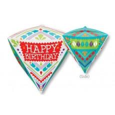 Diamondz UltraShape Scandi Happy Birthday! Shaped Balloon 38cm x 43cm